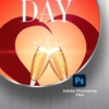 Valentine's Day flyer PSD