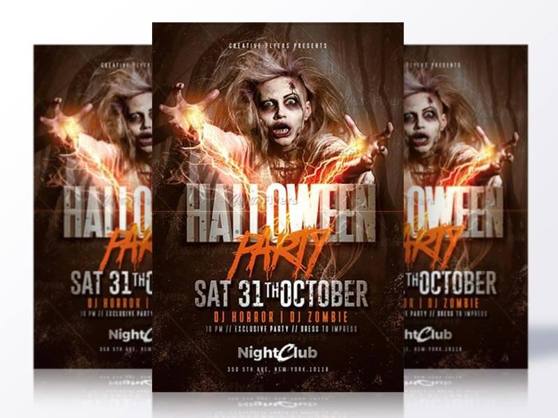 Halloween party templates Psd