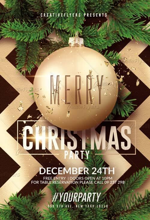 Christmas Flyer Templates Psd