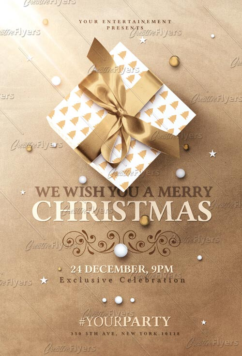 Christmas Invitation Flyer Templates Psd