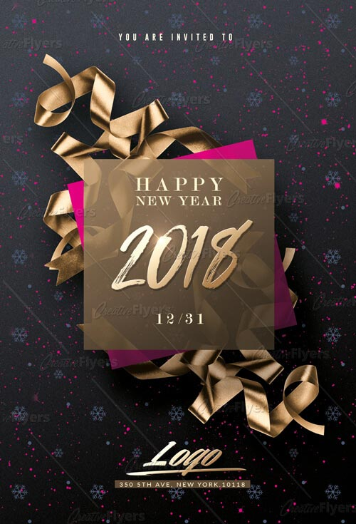 New Year Invitation Flyer Templates