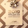 Classy new year flyer