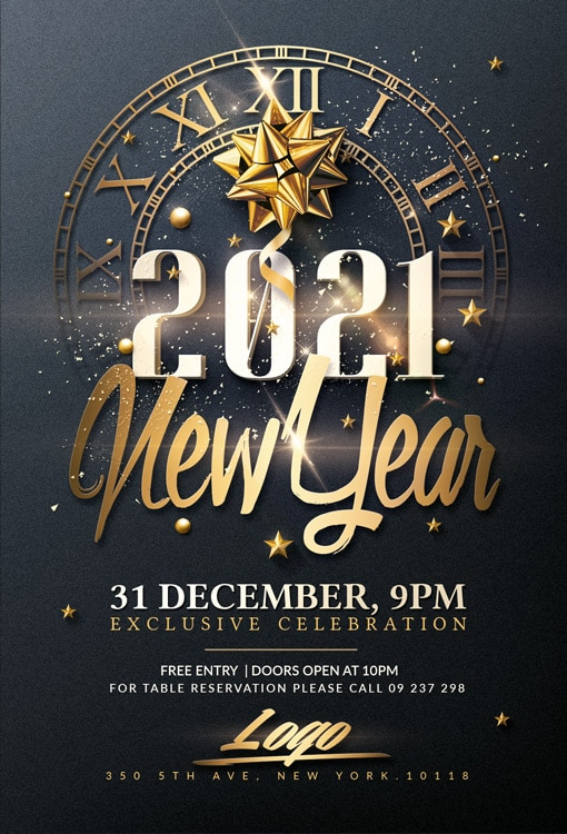 New Year Psd Flyer Template