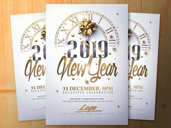 New year flyers photoshop