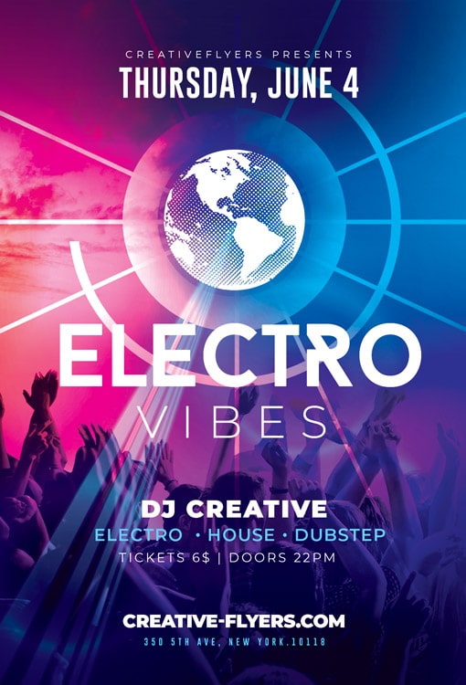 Electro Club Flyer Template
