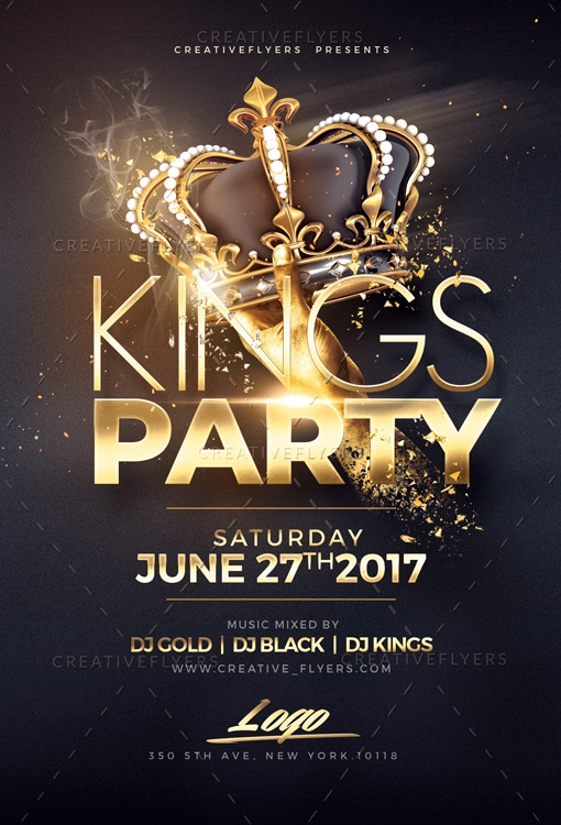 Night of kings Party Flyer