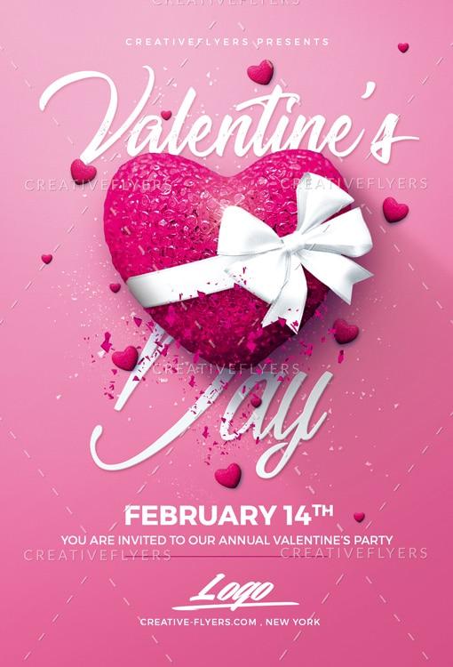 Pink Valentine's Day flyer