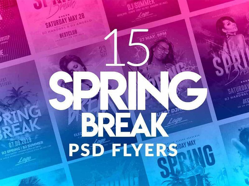 Best Spring Break Flyer Psd