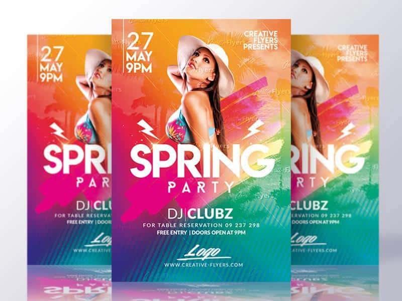 Spring Break Flyer Party Invitation