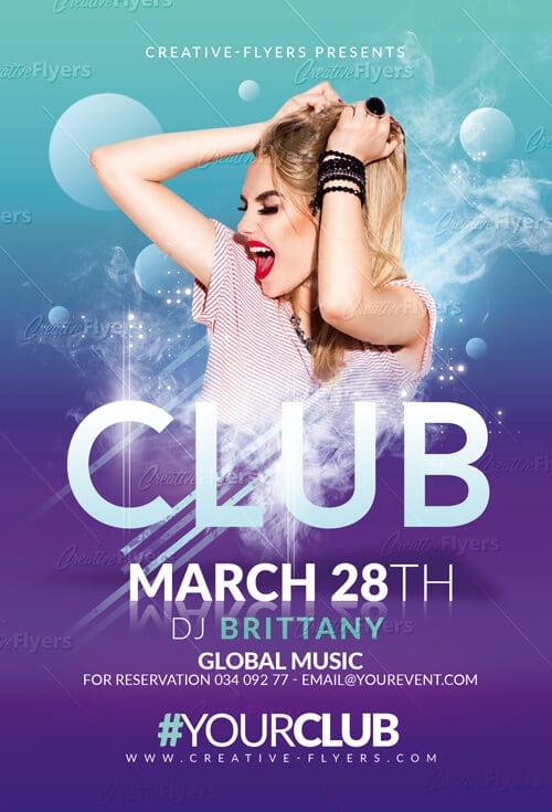 Club Party Flyer Psd Templates
