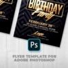 Classy Birthday Psd Flyer