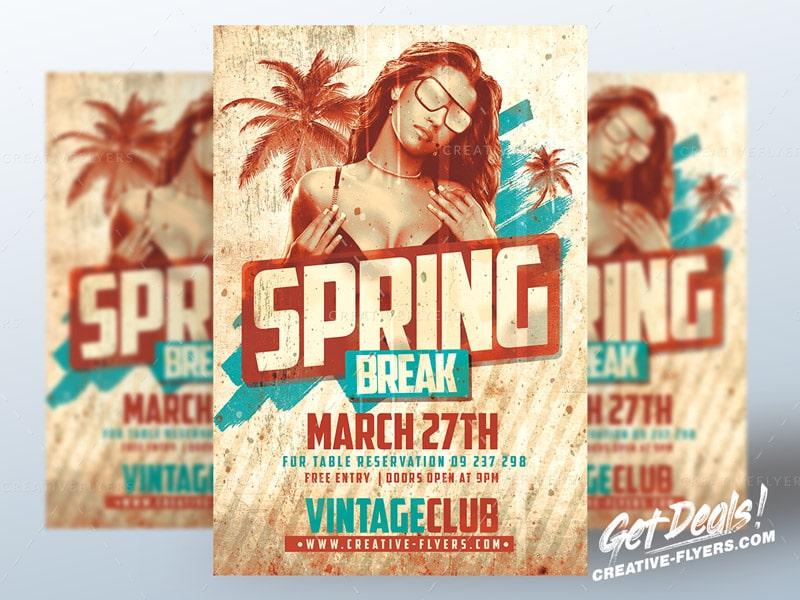 Retro Spring Break Flyer