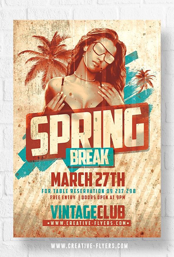 Spring Break Vintage Flyer