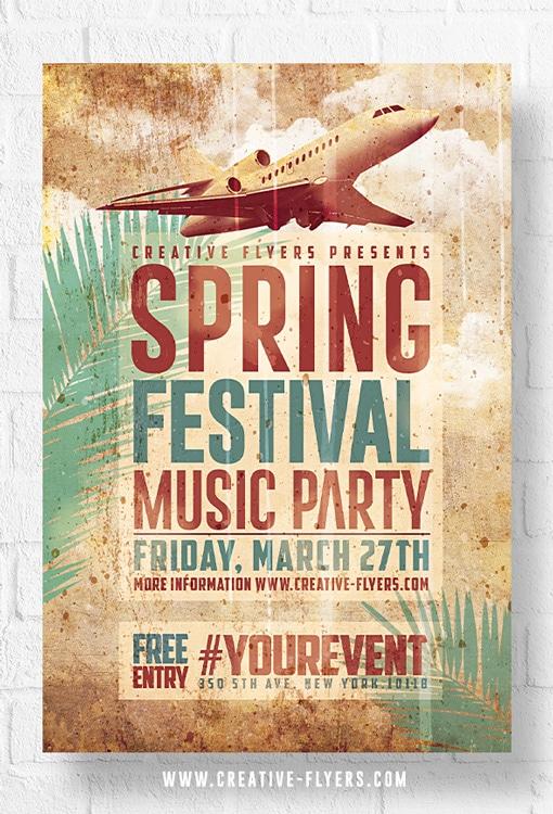 Spring Psd Flyer template