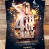 4th of July flyer Psd