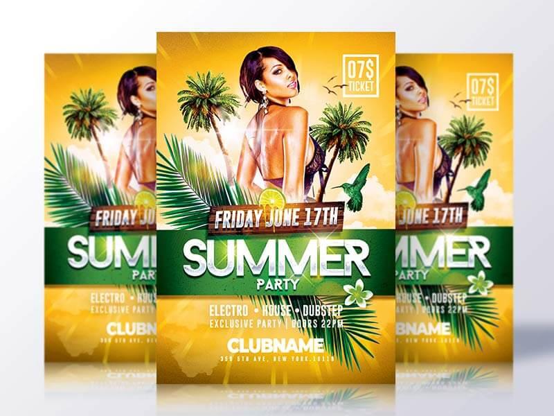 Summer Psd Flyer Template
