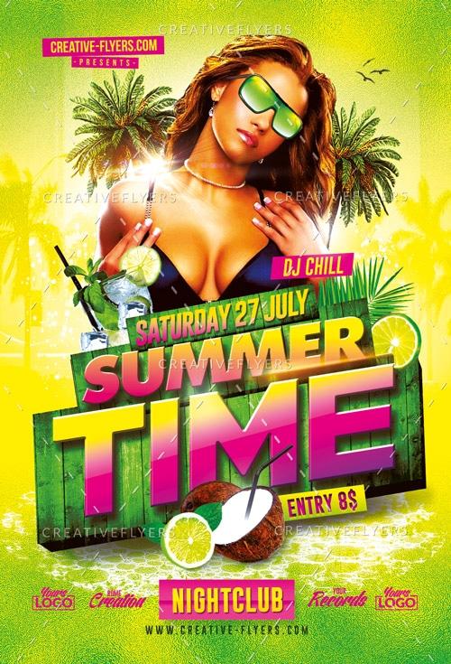 Summer Time Flyer Psd