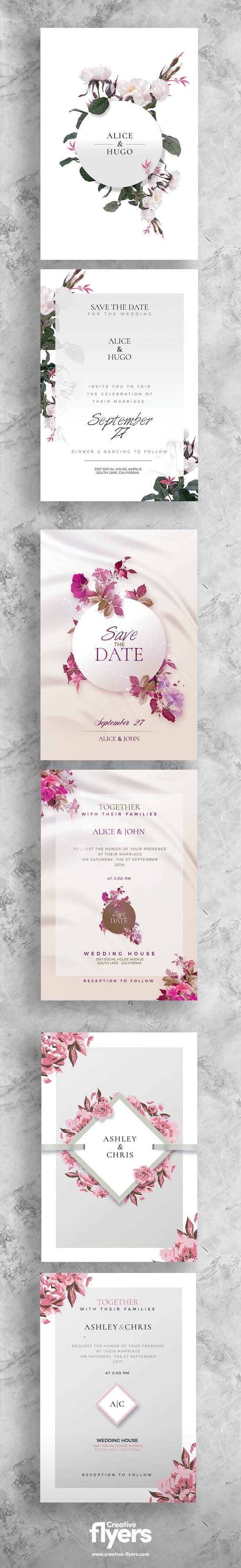 3 Wedding Flyer Templates