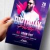 Club Birthday Flyer Template