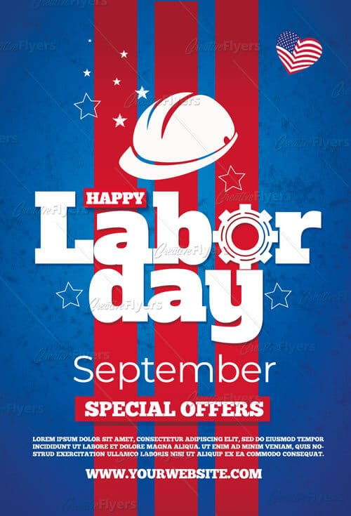 Labor day flyer Psd