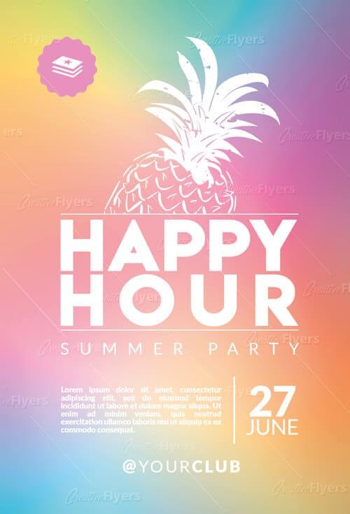 Download Creative Happy hour flyer templates