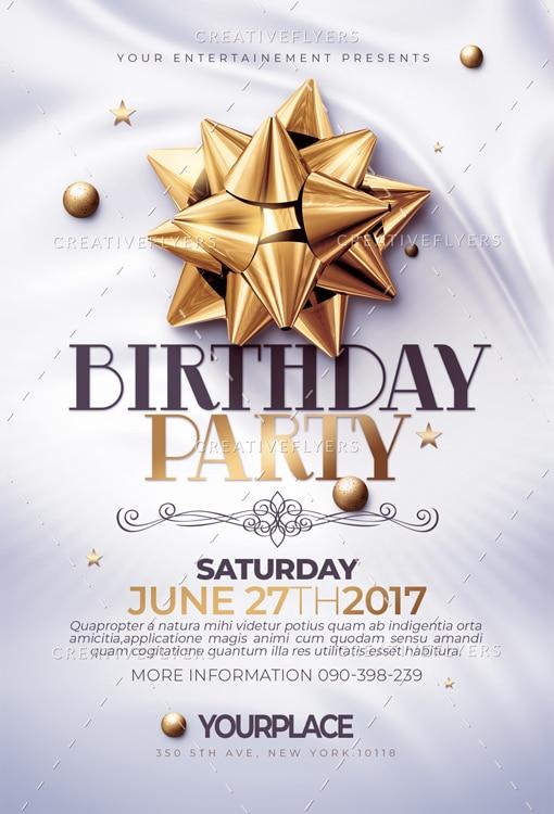 Classy Birthday Flyer