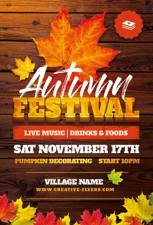Autumn Festival Flyer templates