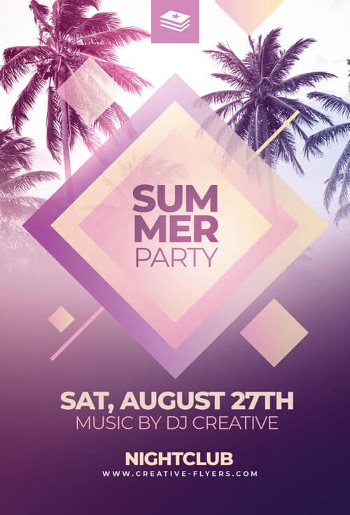 Free Psd Flyer - Summer Party