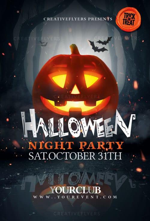 Halloween Night Party flyer