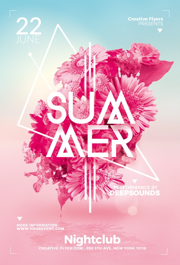 Minimalist summer flyer