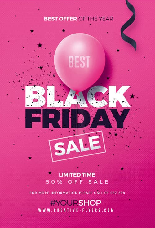Black Friday Sale Flyer Template For Print Creative Flyers
