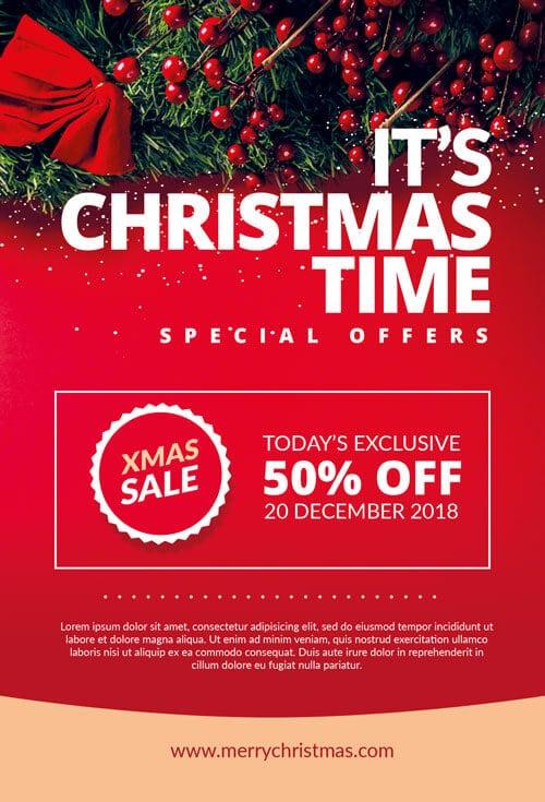 Christmas marketing flyer