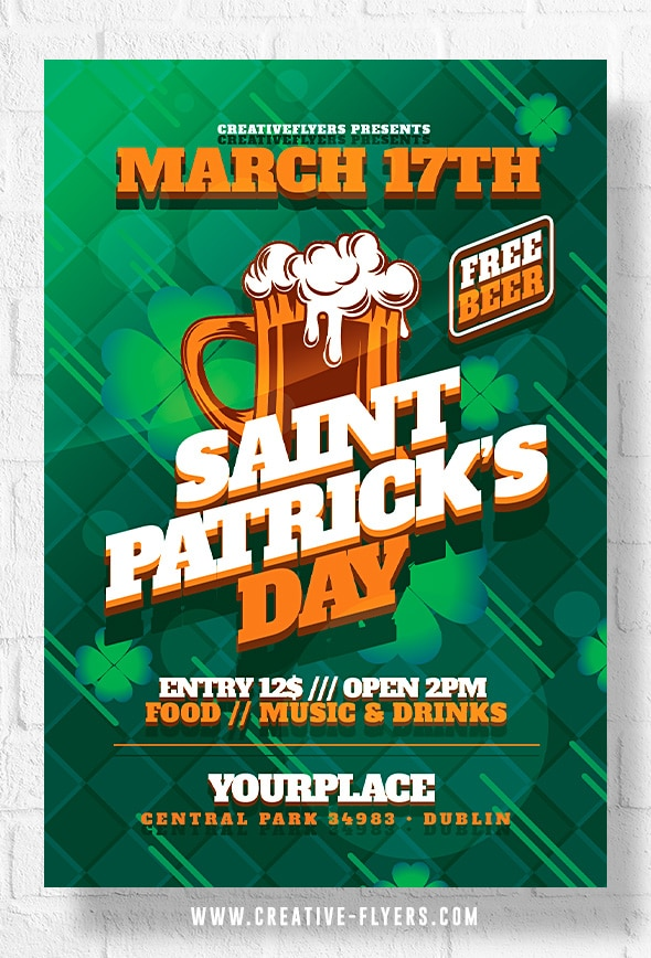Patrick's Day Flyer to Print