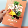 Summer-Party-Template photoshop