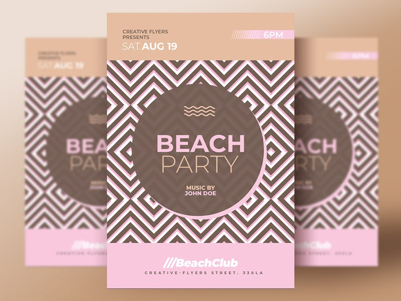 Beach Party psd flyer photoshop