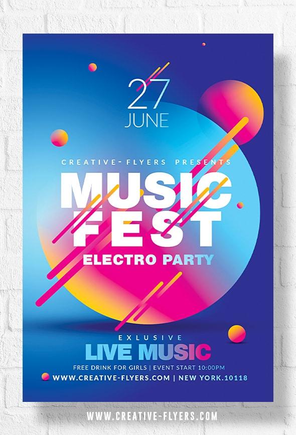 Music Festival Poster template