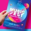Music Festival flyer psd