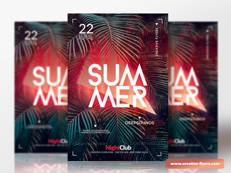 summer flyer photoshop