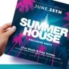 Summer house Flyer template