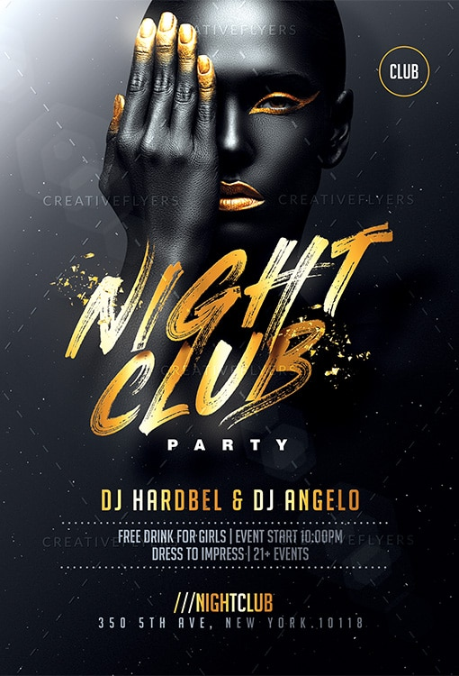 Black and Gold Club Flyer