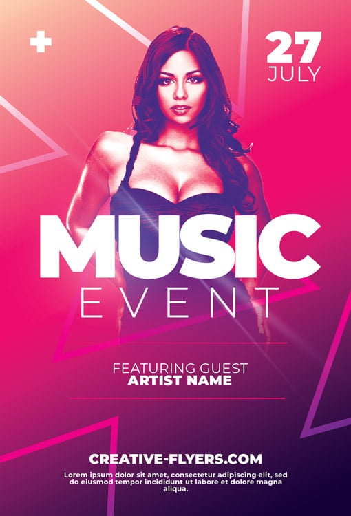 Gradient Music Event Flyer