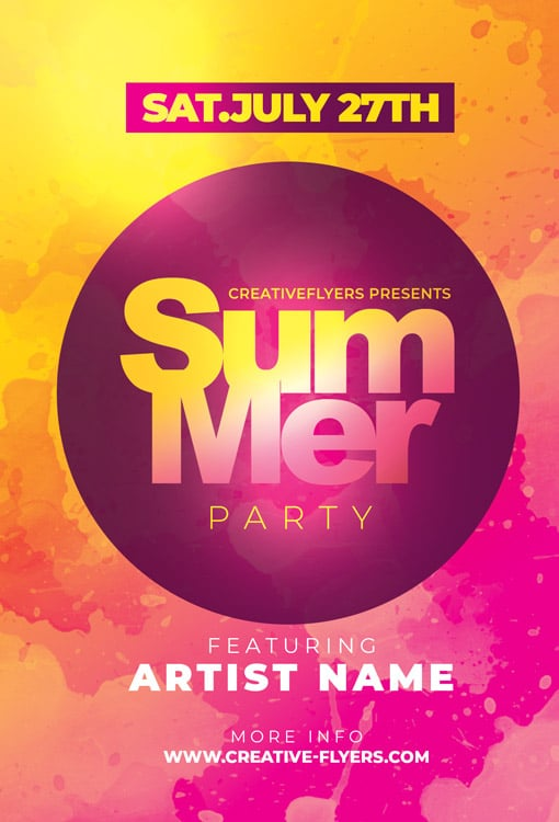 Free Summer Party Flyer