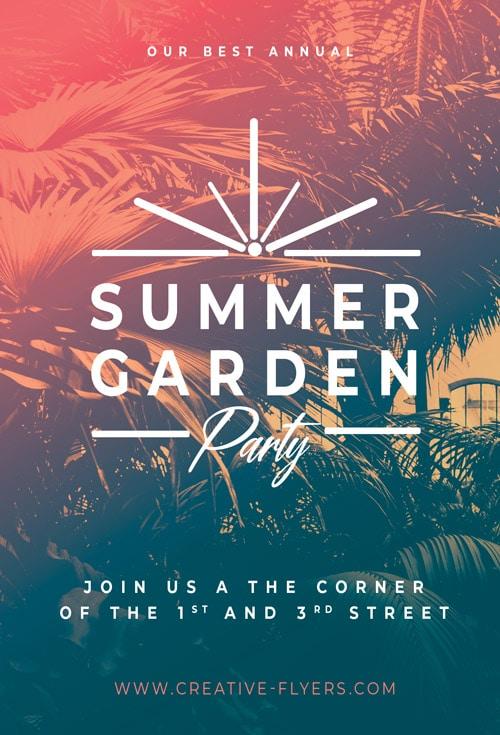 Summer Garden Invitation templates