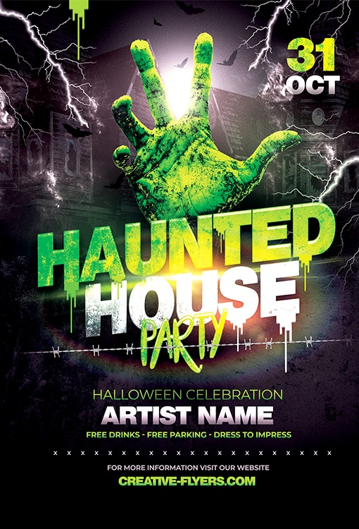 Haunted House Party Flyer