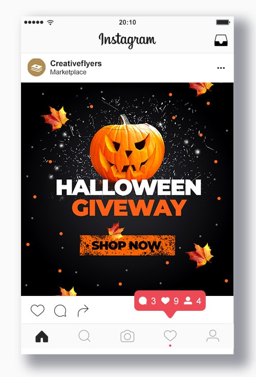 Halloween Giveway Psd Template