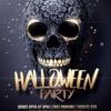 Black & gold Halloween Party flyer