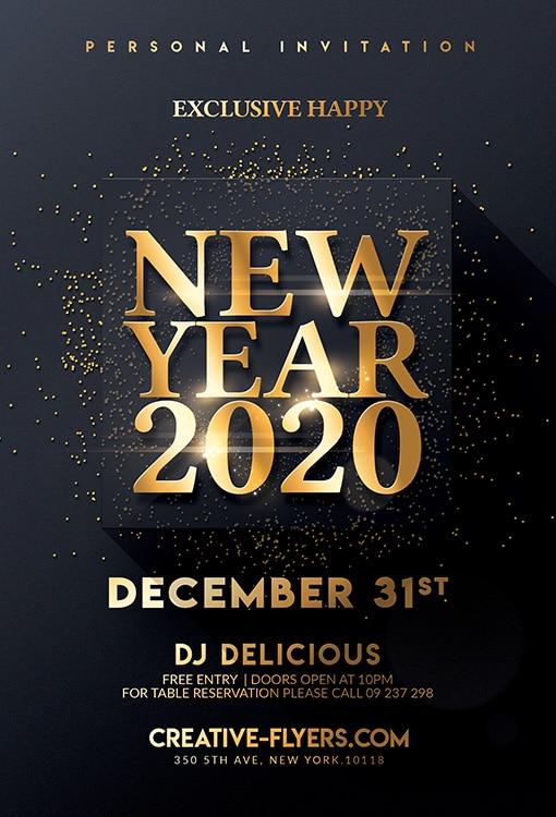 Elegant New Year Invitation