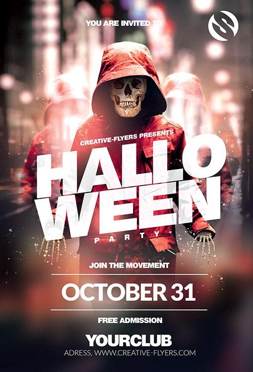Halloween Party Night club Invitation