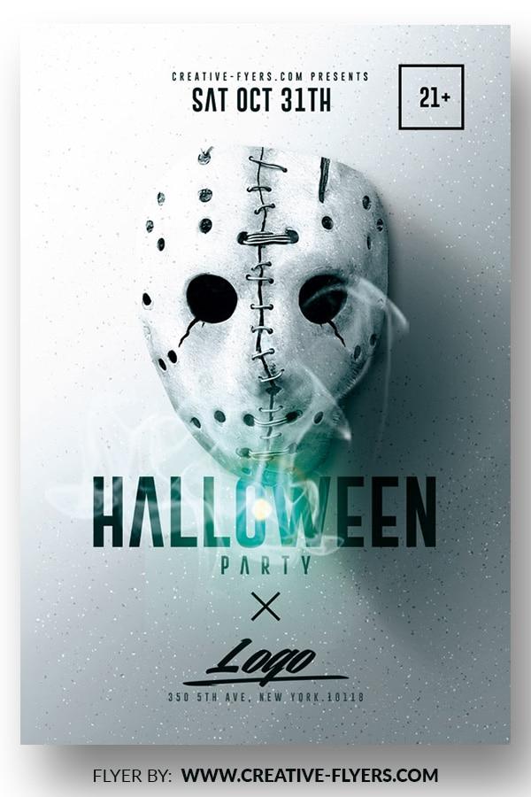 Minimalist Halloween Flyer