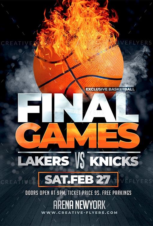Basketball Final Games Flyer